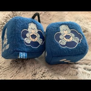 EUC plush hanging Grumpy Care Bear dice